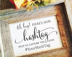 Wedding Hashtag Sign V3 Rustic Decoration Decor Help Us Capture