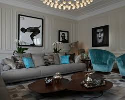 Grey And Turquoise Living Room Curtains by Turquoise And Brown Living Room Ideas White U Shaped Fabric Comfy