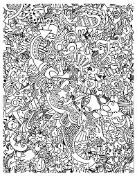 Free Coloring Page Doodle Art Doodling 18 Very Complex