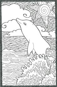 Dolphin Coloring Pages And Crafts To Print Out Page By Online Full Size
