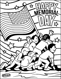 Happy Memorial Day Coloring Pages Printable