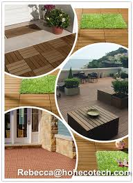 factory price wood plastic composite interlocking decking tiles