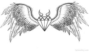 Motorcycle Coloring Pages For Adults Cure Draw Wings And Diamond Tattoo