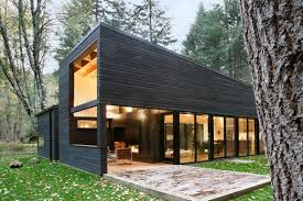 100 Modern Wooden House Design Blackened Wood House By Robert Hutchison TALL EXTERIOR ROOM