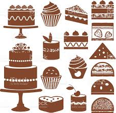 Cakes and cupcakes silhouette icons royalty free cakes and cupcakes silhouette icons stock vector art