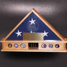 5x9 Red Oak Display Base Flag Case