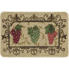 Wine And Grape Kitchen Decor Ideas by Mainstays Nature Trends Grape Bunches Printed Kitchen Mat