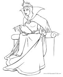 Coloring Pages Disney Villains Cool Printable