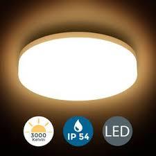 deckenle led 13w bad len ip54 badezimmer leuchte deckenleuchte küche flur