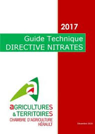 chambre agriculture 34 directive nitrates 2017 2018 guide technique synthèse chambre