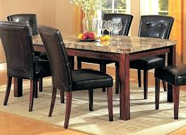 Dining Room Tables Granite Table Black Set Round Glass