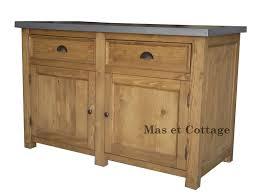 meuble bas cuisine element bas de cuisine 2 portes et 2 tiroirs en pin