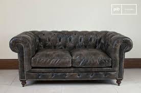 housse de canapé chesterfield canapé chesterfield cuir vieilli pib