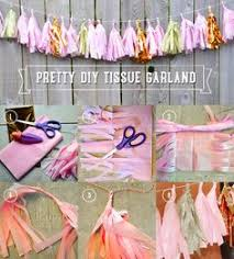 Diy Tissue Paper Crafts Tassel Garland Decorations Pink And