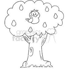 Royalty Free a partridge in a pear tree vector clip art image EPS illustration
