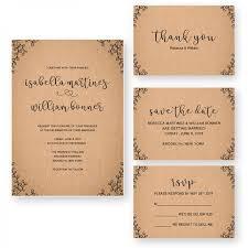 Vintage Rustic Fall Wedding Invitation WIP061