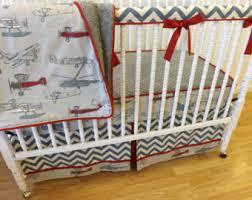 AIRPLANE BABY BEDDING Airplane crib bedding Airplane crib