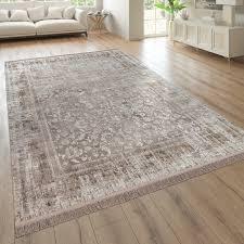 wohnzimmer teppich kurzflor mit orient optik used optik in beige
