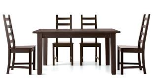 Trendy Dining Set With Wooden Table And Chair Chairs Ikea Wood Black