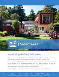100 Blu Homes Prefab Sidebreeze Brochure PDF Catalogs
