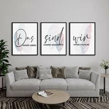das sind wir poster perfekt für wohnzimmer in dezenten farben