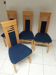 esszimmerstühle bezug blau holz buche 4 stück