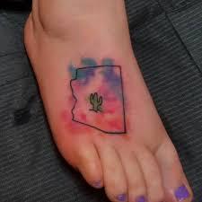 Cactus Foot Tattoo Design