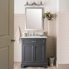 Astonishing Ballantyne Bathroom Vanity Allen Roth 30 In And