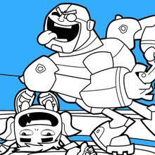Teen Titans Beast Boy And Cyborg Coloring Page