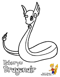 Pokemon Drawing Page Of Dragonair At YesColoring