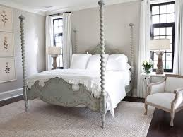 French Country Bedroom Decor Burlap Window Shades White Metal Bed Barn Doors Clasic Motive Curtains Also Throw Pillows