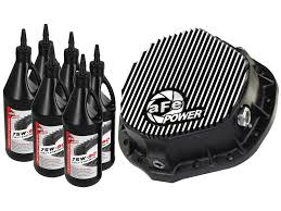 100 2014 Ford Diesel Trucks Rear Differential Cover Machined Fins Pro Series W Gear Oil
