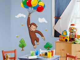 Curious George Wall Sticker Mural For Kids Room Decor