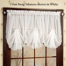 Modern Valances For Living Room by Emelia Sheer Fan Swag Valances