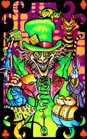 Alice In Wonderland Mad Hatter Surreal Blacklight Poster Art