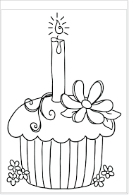 Coloring Pages For Toddlers Online Shapes Birthday Adults Cupcake Happy Cookie Free Full Size