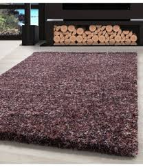 shaggy teppich hochwertig hochflor wohnzimmer pink lila taupe creme meliert