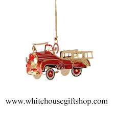 Pedal Firetruck Ornament, 3-D, 24KT Gold Plated, White House Gift ... 60sera Fire Truck Pedal Car Blue Moon Fall Auction Owls Head Transportation Museum Rare Lg Pedal Firetruck Wbadge On Rear Niwot Ride On Firetruck The Land Of Nod Ornament 3d 24kt Gold Plated White House Gift Gearbox Volunteer Riding 124580 Limited Edition 19072999 Engine No 8 Collectors Weekly Wheres Fire Truck Pedal Car Gear Richard Hall 1927 Gendron Kids Showtime Services Novelty Toy 39 Long Complet By Insteprideon Youtube