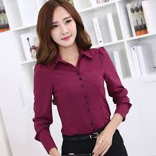 2016 New Women S Long Sleeve Blouse Spring Slim OL Elegant Work Wear Female Formal Office