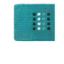kleine wolke badteppich quadri 80 x 150 cm blau grün
