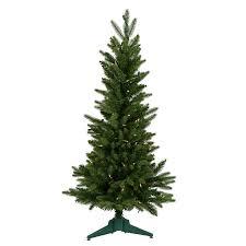 Vickerman Slim Flocked Christmas Tree by Shop Vickerman 3 Ft Pre Lit Frasier Fir Slim Artificial Christmas