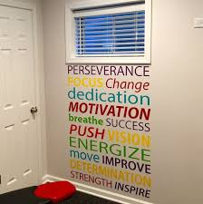Motivational Quote Wall Decal Office Decor Gym Classroom Inspirational Words