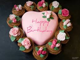 Romantic And Lovely Birthday Cake Card Wishimg You Happy