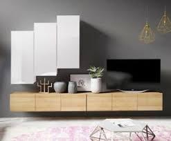 details zu wohnwand calabrini xx moderne wohnzimmer set hochglanz hängewohnwand 5 farben