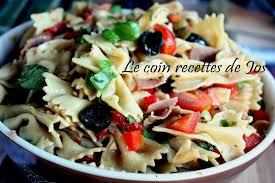 le coin recettes de jos salade de pâtes à l italienne
