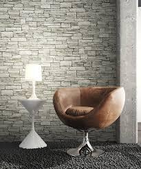 newroom vliestapete steintapete grau grün ziegelstein backstein mauerwerk klinker tapete steinoptik wohnzimmer schlafzimmer flur tapete steinoptik