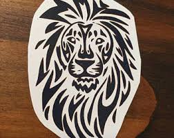 Tribal Lion Tattoo Jungle African Animals Temporary