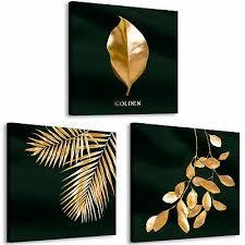 gold natur leinwand deko bilder wandbild mohnblumen