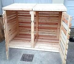 trash cans wooden trash can cover diy wood pallet trash bin