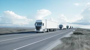 100 Concept Semi Trucks Convoy Of White Trucks Semi Trailer On The Road Highway